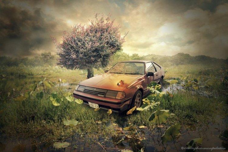 Сюрреалистичные фотоманипуляции Ивена Лю