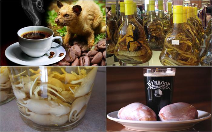 Странные и необычные напитки из разных стран