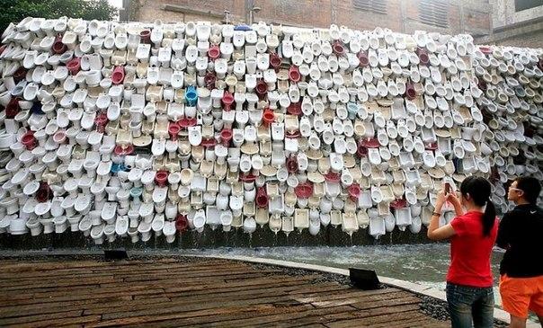 Унитазный фонтан в Китае