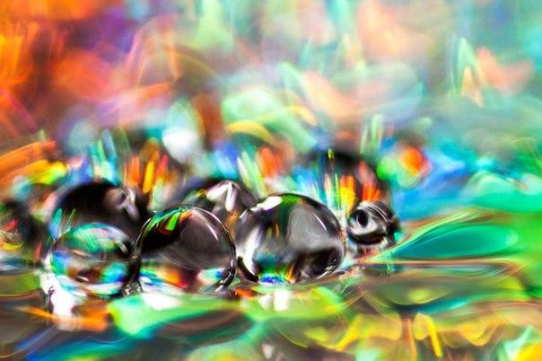 Макро снимки капли воды
