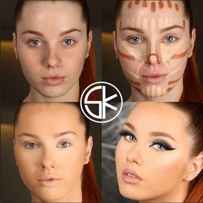 Преображение девушек при помощи макияжа