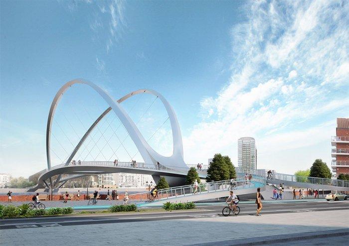 Проекты нового пешеходного моста в Лондоне