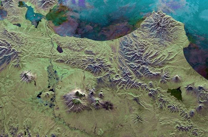 Россия из космоса на фото Европейского  космического агентства