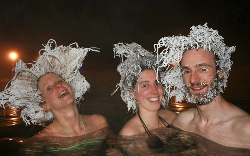 Конкурс замороженных волос на Юконе