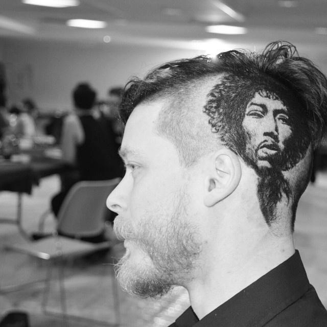 Портреты знаменитостей на прическах