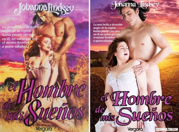 Обложки женских романов и реальность