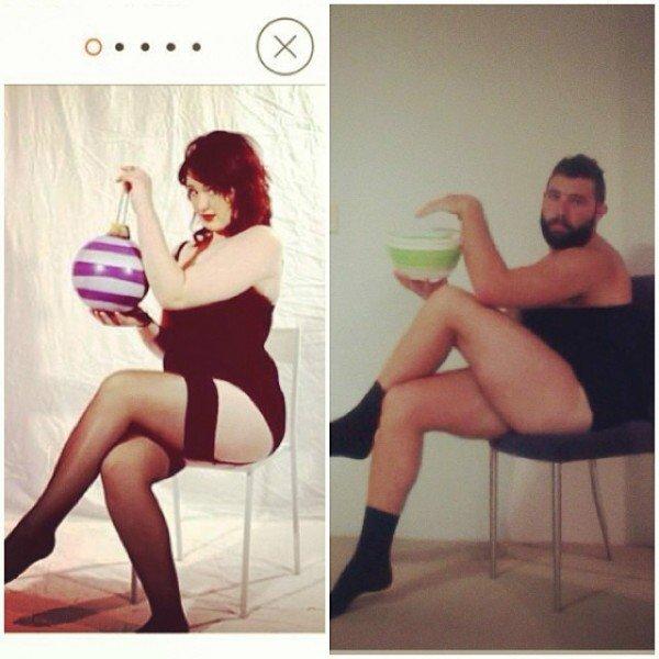 Пародии на женские фото из Tinder