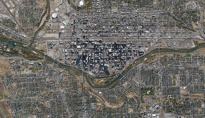 Фотографии Канады из космоса