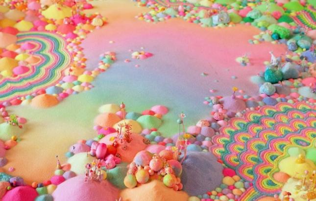 Радужные миры из сладостей Тани Шульц