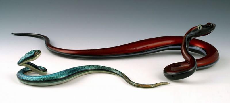 Симпатичные стеклянные зверушки Скотта Биссона