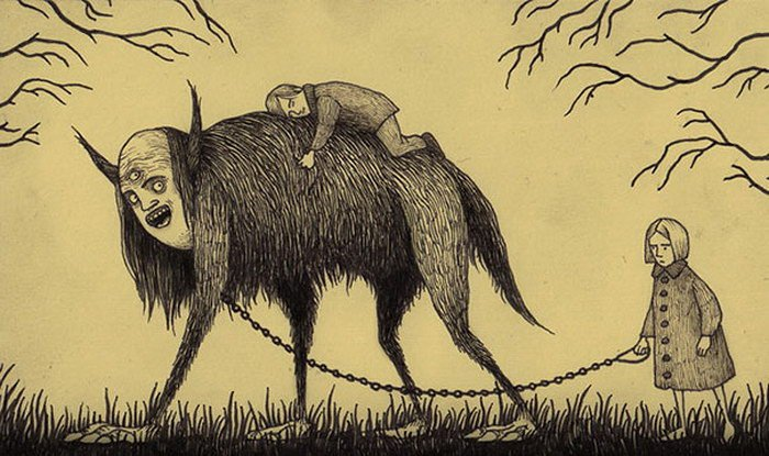 Детские кошмары в рисунках Джона Мортенсена