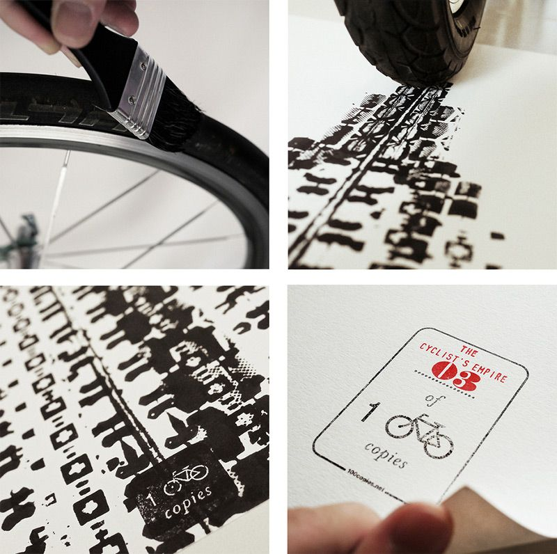 Мировые достопримечательности, нарисованные велосипедом