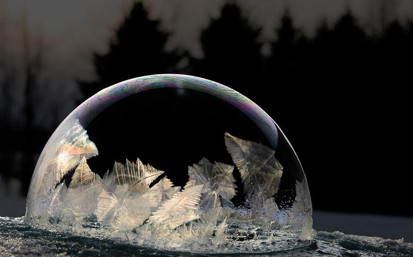 Внутри мыльного пузыря на морозе от Хоуп Картер