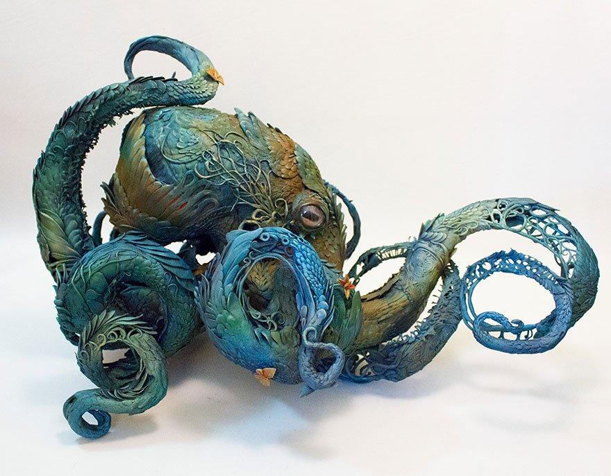 Детализированные и нежные глиняные скульптуры Эллен Джуетт