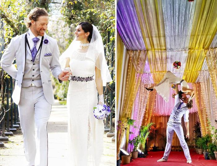 Кругосветная свадьба пары акробатов