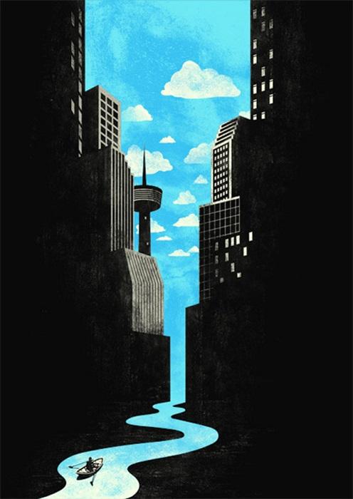 Классные иллюстрации-иллюзии малайзийского художника Тан Яо Хун