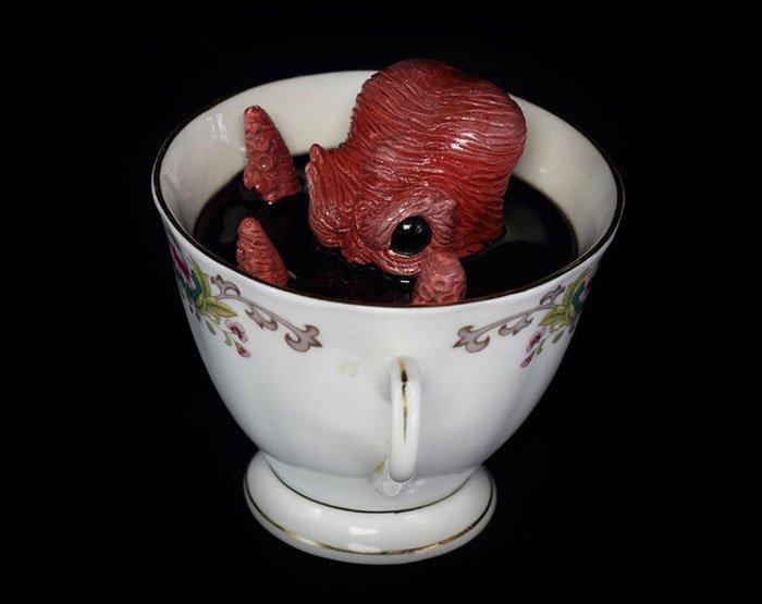 Ктулху в темных глубинах чашек от Майкла Палмера