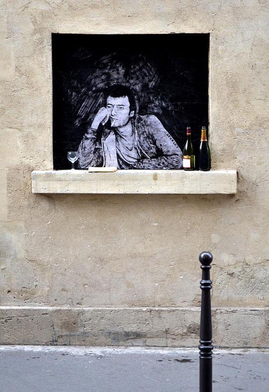 Рисунки французского уличного художника Чарльза Леваля