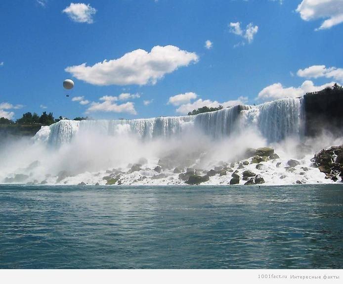 Интересные факты о Ниагарском водопаде