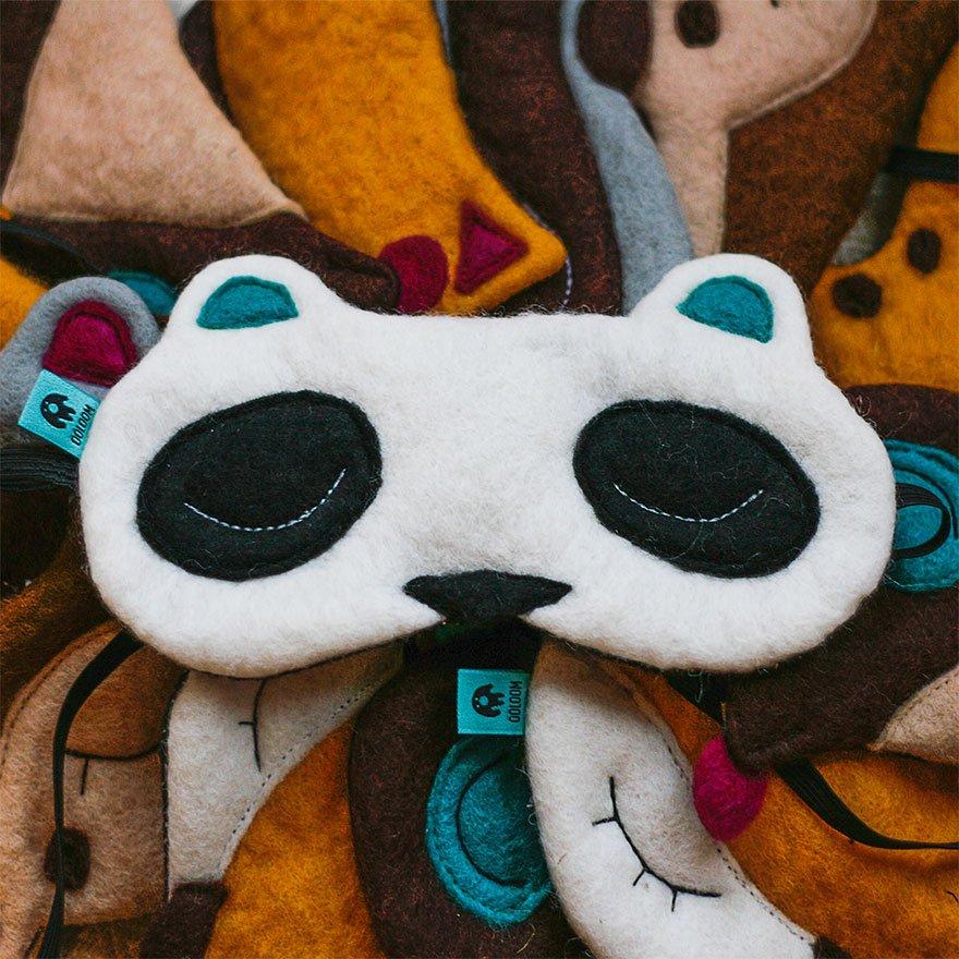 Прикольные маски для сна в виде животных