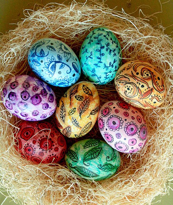 Креативные решения оформления пасхальных яиц