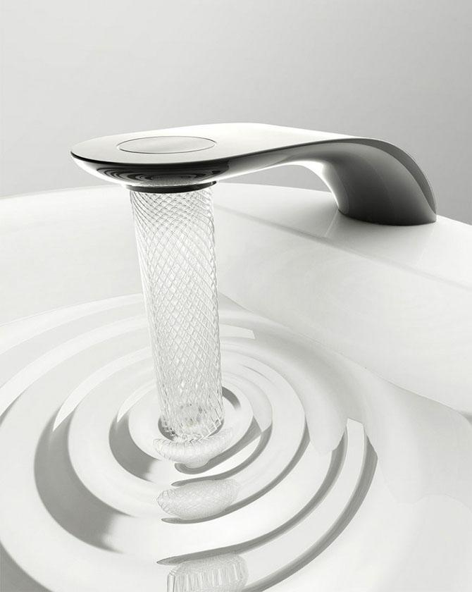 Красивый кран поможет экономить воду