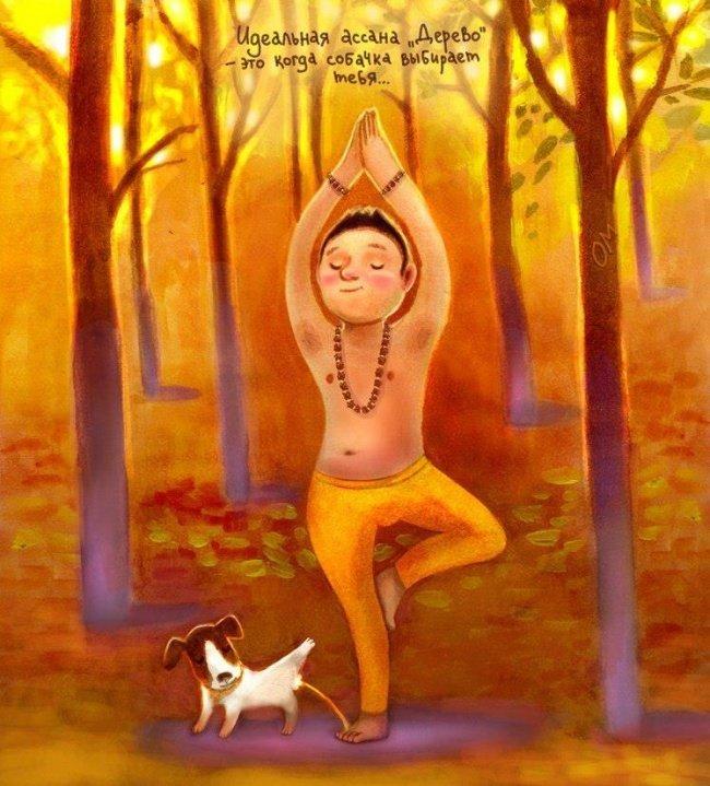 Добрая йога на иллюстрациях Элины Гордеевой