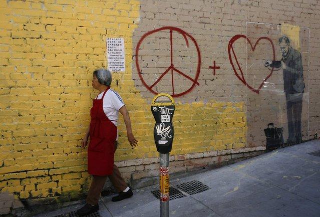 Лучшие работы британского уличного художника Бэнкси