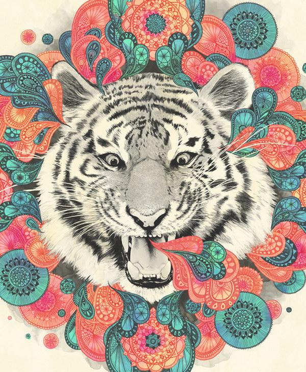 Милые животные на иллюстрациях Лауры Гравес