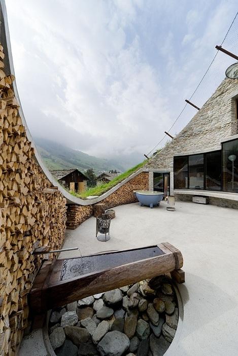 Вилла в альпийском холме