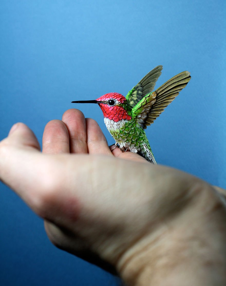 Реалистичные скульптуры птиц от Зака Маклафлина