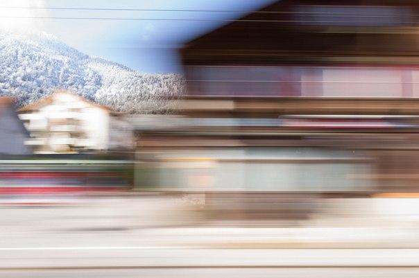 Пейзажи из окна поезда