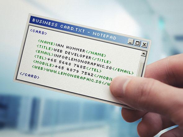 Интересные и запоминающиеся визитки