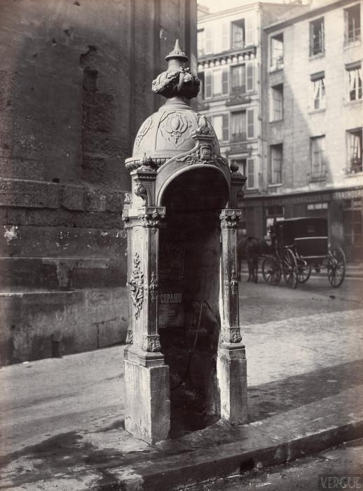 Общественные туалеты на улицах Парижа 1865 - 1875 годов