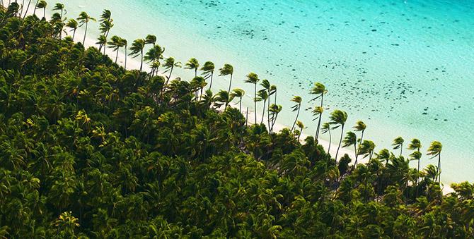 Частный остров Марлона Брандо во Французской Полинезии