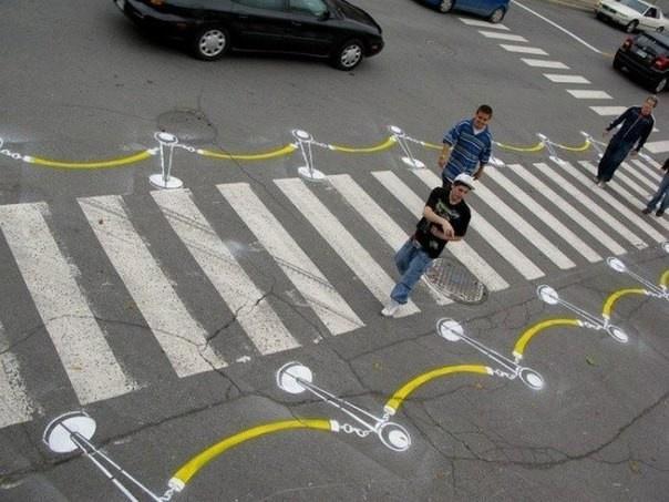 Забавные и необычные пешеходные переходы