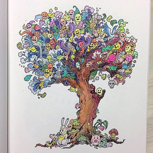 Раскраска для взрослых: Вторжение дудлов