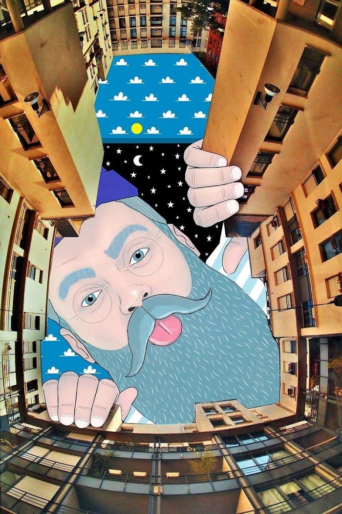 Томас Ламадьё разрисовывает небо