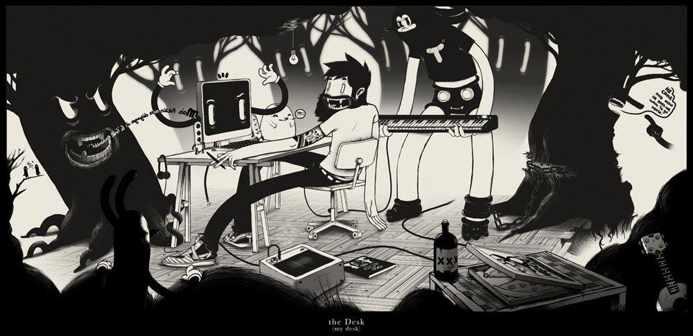 Иллюстрации от французского музыканта Matthieu Bessudo aka McBess