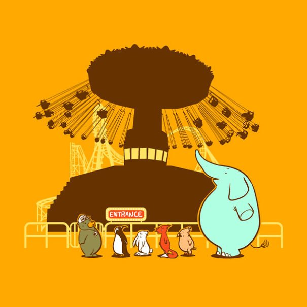 Иллюстрации Flying Mouse 365 от Чоу Хон Лам