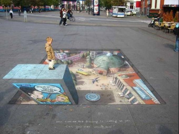 Подборка уличных 3D-рисунков