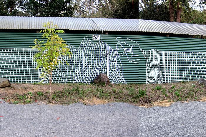 Стрит-арт из изоленты
