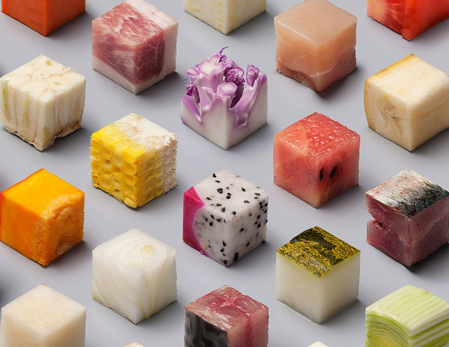 Кубики из продуктов питания