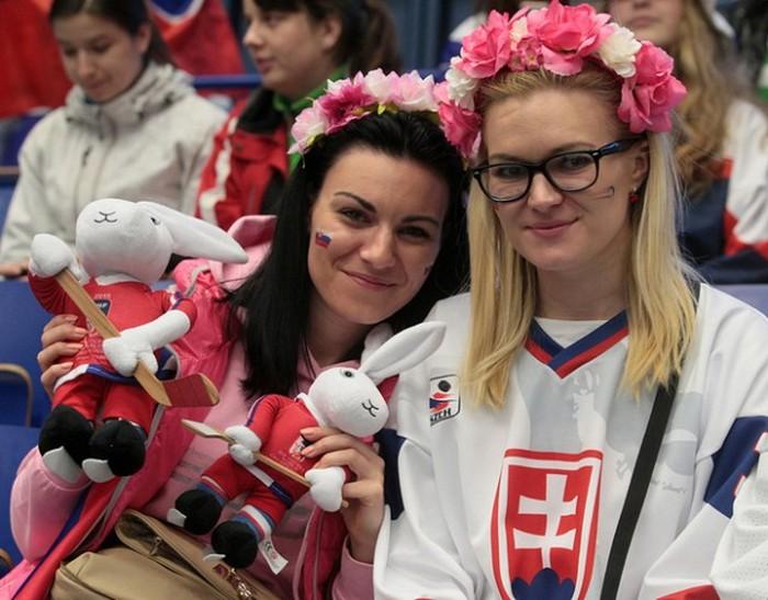 Симпатичные болельщицы на хоккее