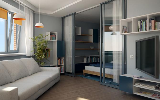 20 идей для квартиры из одной комнаты