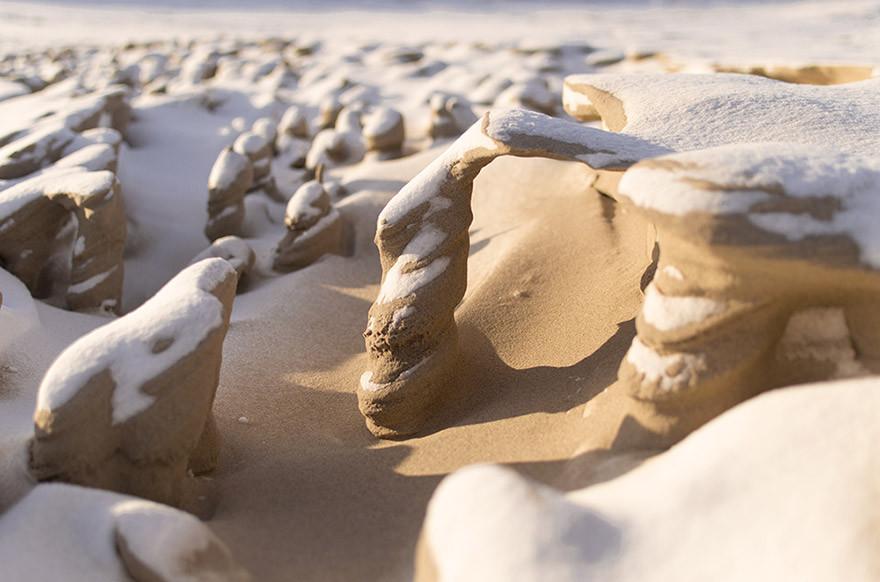 Башни из песка: творение ветра и холода