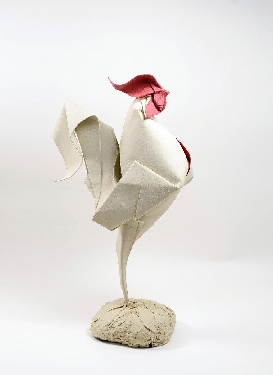 Зверьки-оригами мокрого складывания
