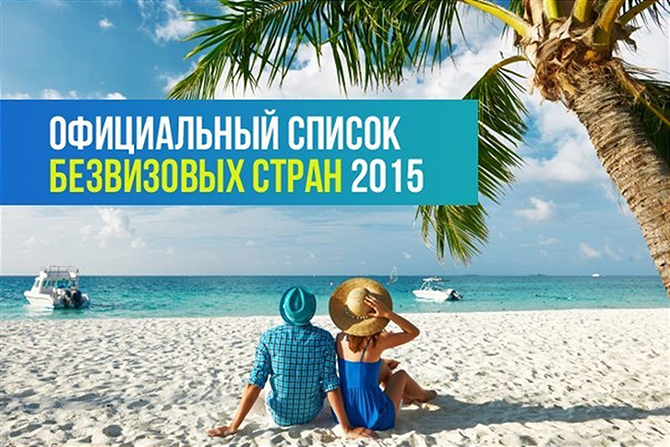 Безвизовые страны для россиян в 2015 году
