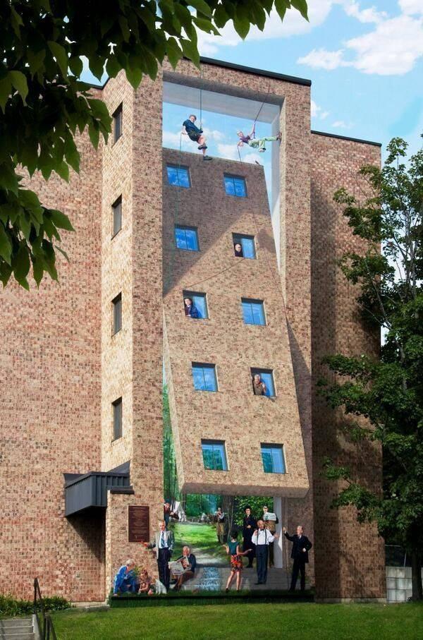 Уличные рисунки на всю стену
