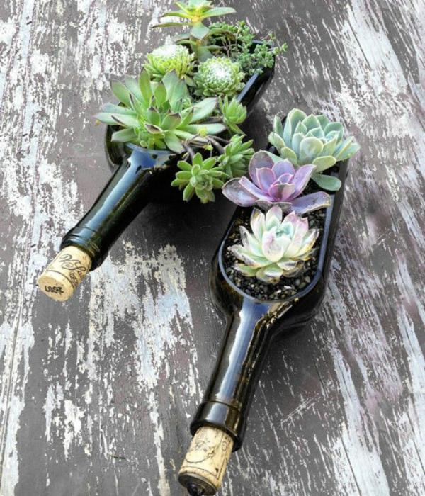 20 стильных бытовых предметов из винных бутылок
